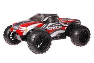 HSP 1zu10 Brushed Brontosaurus RC Monster Truck Grey Red