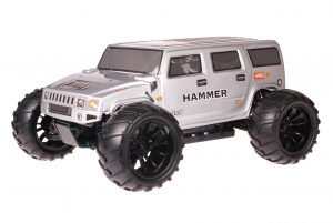 HSP 1zu10 Brushed Brontosaurus RC Monster Truck Hummer Grey