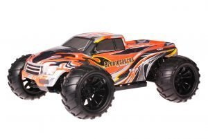 HSP 1zu10 Brushed Brontosaurus RC Monster Truck Orange Spider