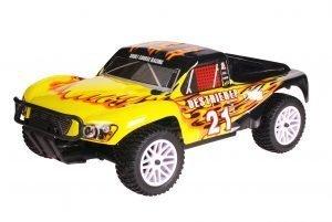 HSP 1zu10 Brushed Destrier RC Short Course Truck Black Flames