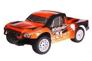HSP 1zu10 Brushed Destrier RC Short Course Truck Black Orange