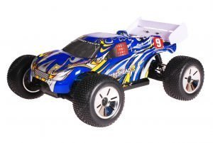 HSP 1zu10 Brushed Eamba RC Truggy Tribeshead 2 Blue