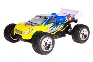 HSP 1zu10 Brushed Eamba RC Truggy Tribeshead 2 Blue Explosion