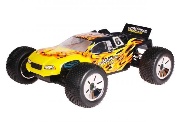 HSP 1zu10 Brushed Eamba RC Truggy Tribeshead Black Flames