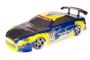 HSP 1zu10 Brushed RC Auto Bad Boy Blue Carbon