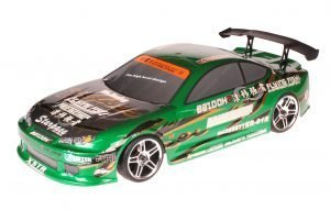 HSP 1zu10 Brushed RC Auto Bad Boy Green Carbon
