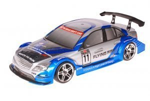 HSP 1zu10 Brushed RC Auto Mercedes Blue Carbon