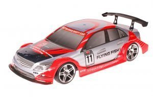 HSP 1zu10 Brushed RC Auto Mercedes Red Carbon