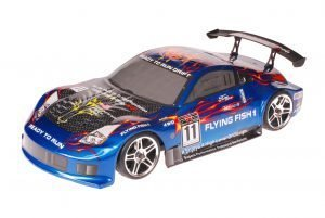 HSP 1zu10 Brushed RC Auto Porsche 911 Carrera Blue Carbon