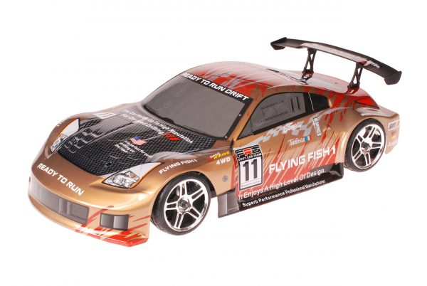 HSP 1zu10 Brushed RC Auto Porsche 911 Carrera Gold Carbon