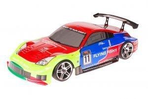 HSP 1zu10 Brushed RC Auto Porsche 911 Carrera Green Venom