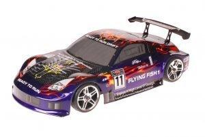 HSP 1zu10 Brushed RC Auto Porsche 911 Carrera Purple Carbon