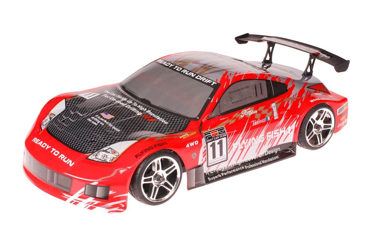 HSP 1zu10 Brushed RC Auto Porsche 911 Carrera Red Carbon