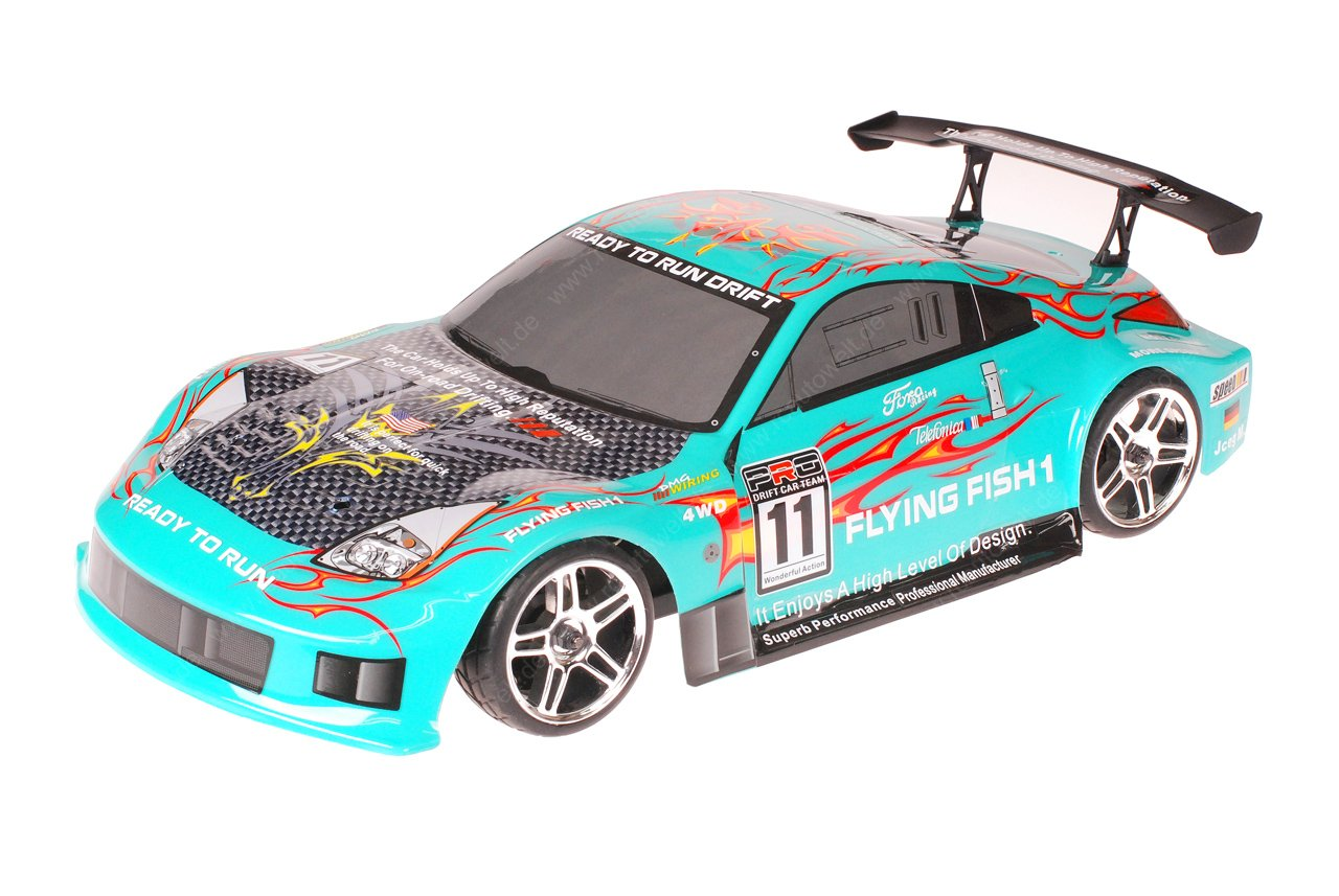 HSP 1zu10 Brushed RC Auto Porsche 911 Carrera Sky Flames