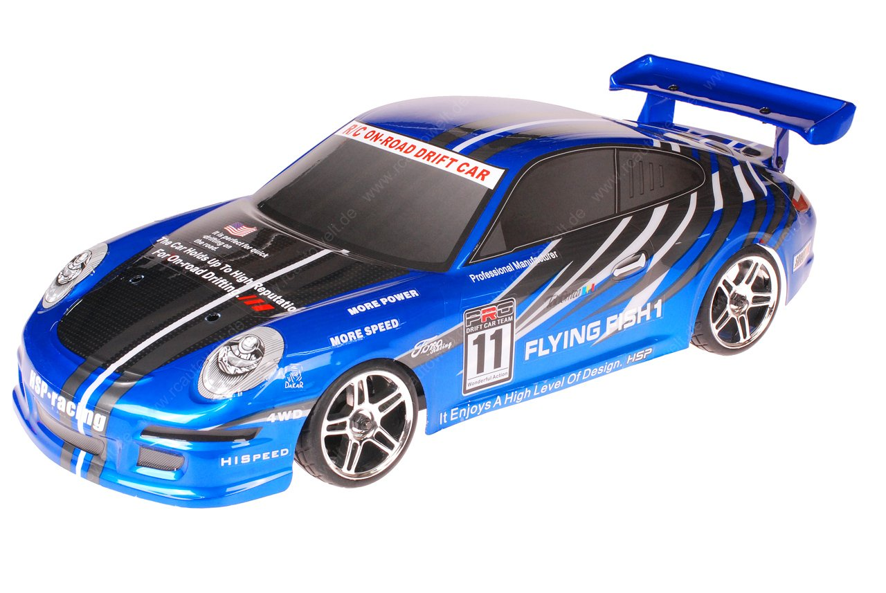 HSP 1zu10 Brushed RC Auto Porsche 9a