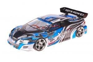 HSP 1zu10 Brushed RC Auto Xeme Blue Carbon
