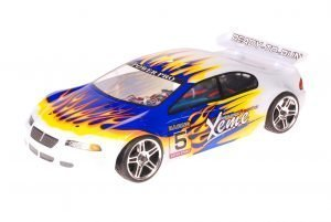 HSP 1zu10 Brushed RC Auto Xeme Blue Flames