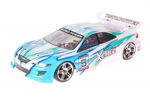 HSP 1zu10 Brushed RC Auto Xeme Blue White