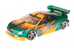 HSP 1zu10 Brushed RC Auto Xeme Green Metal