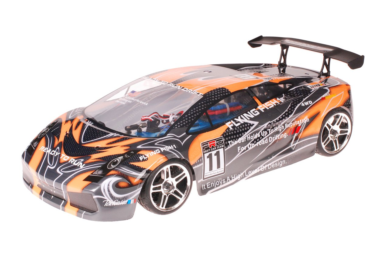 HSP 1zu10 Brushed Xeme RC Auto Lamborghini Orange Carbon