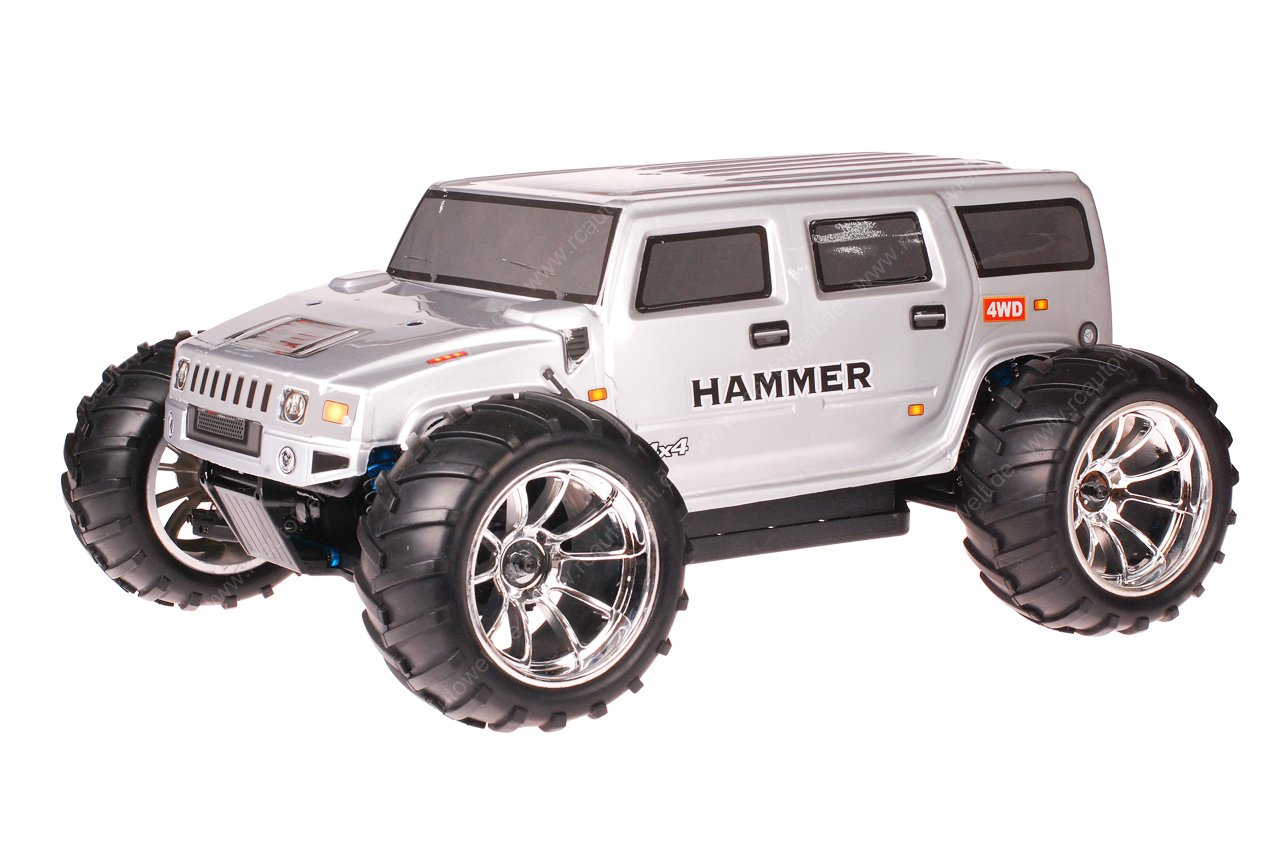 HSP 13:130 Brushless Brontosaurus PRO RC Monster Truck Hummer Grey | truck hummer