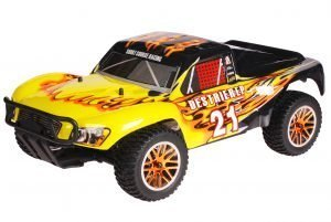 HSP 1zu10 Brushless Destrier PRO RC Short Course Truck Black Flames
