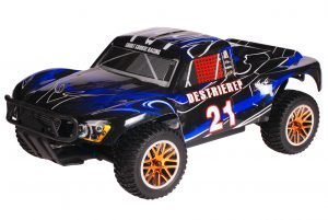 HSP 1zu10 Brushless Destrier PRO RC Short Course Truck Blue Smoke