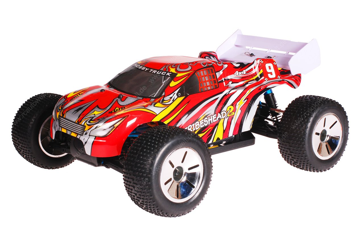 HSP 1zu10 Brushless Eamba PRO RC Truggy Tribeshead 2 Red