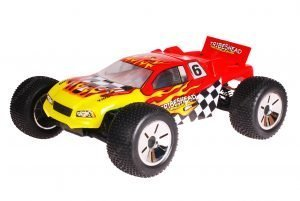 HSP 1zu10 Brushless Eamba PRO RC Truggy Tribeshead Red Flames