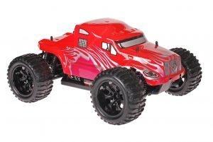 Himoto 1zu10 Brushed EMXT-1 RC Monster Truck American Truck Red Metallic