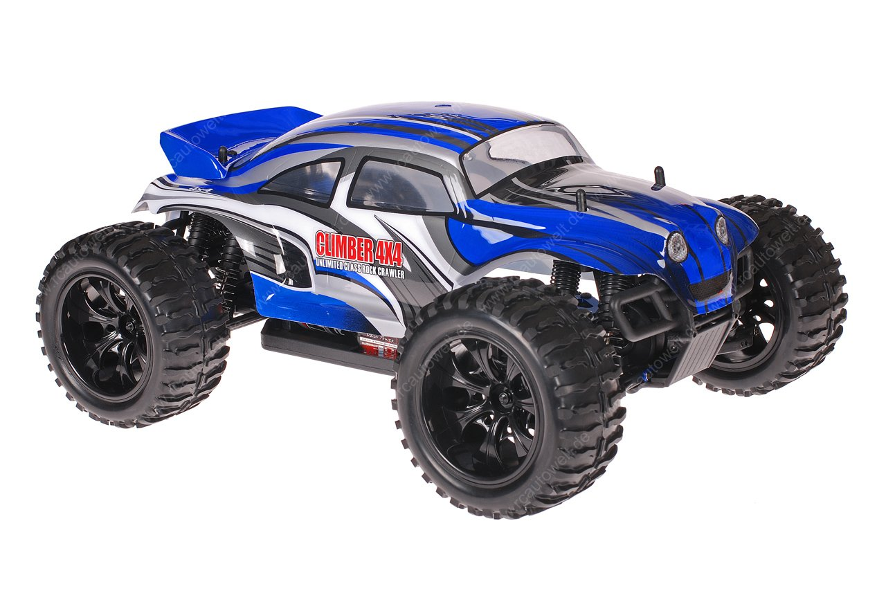 Himoto 1zu10 Brushed EMXT-1 RC Monster Truck Baja Beetle Blue