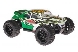 Himoto 1zu10 Brushed EMXT-1 RC Monster Truck Baja Beetle Green White