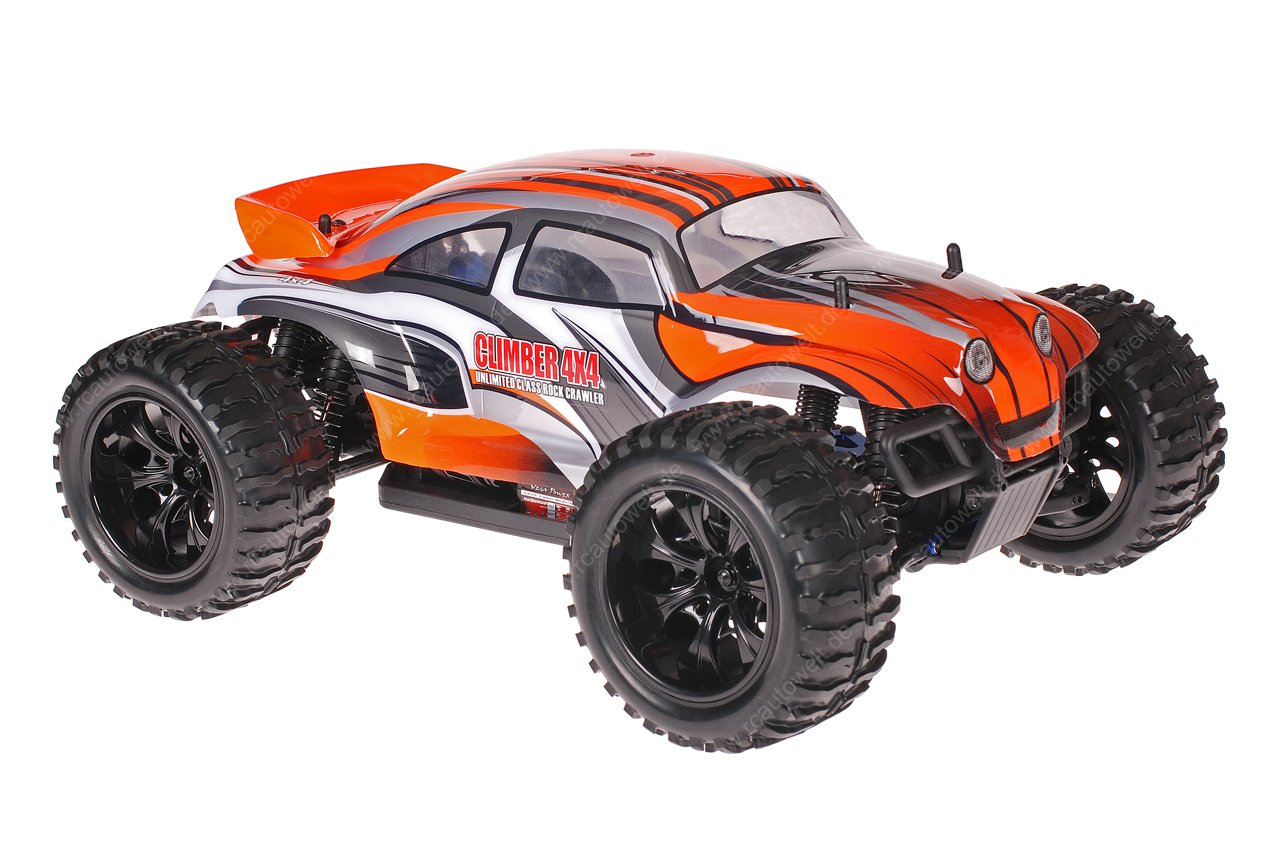 himoto 1 10 emxt 1 rc monster truck baja beetle orange. Black Bedroom Furniture Sets. Home Design Ideas
