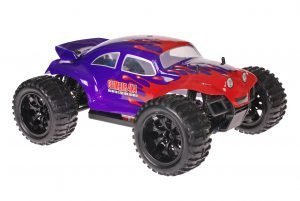 Himoto 1zu10 Brushed EMXT-1 RC Monster Truck Baja Beetle Purple