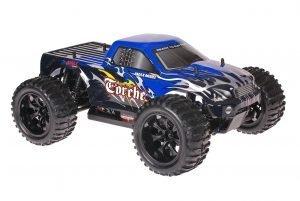 Himoto 1zu10 Brushed EMXT-1 RC Monster Truck Black Blue