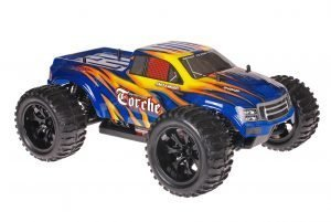 Himoto 1zu10 Brushed EMXT-1 RC Monster Truck Blue Canon