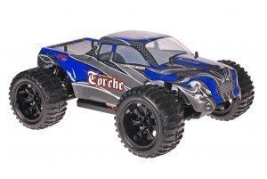 Himoto 1zu10 Brushed EMXT-1 RC Monster Truck Blue Carbon