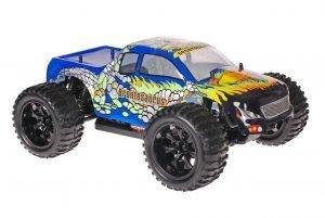 Himoto 1zu10 Brushed EMXT-1 RC Monster Truck Blue Cobra