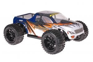 Himoto 1zu10 Brushed EMXT-1 RC Monster Truck Blue Heat