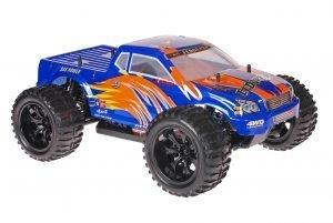 Himoto 1zu10 Brushed EMXT-1 RC Monster Truck Blue Orange