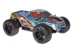 Himoto 1zu10 Brushed EMXT-1 RC Monster Truck Blue Spider