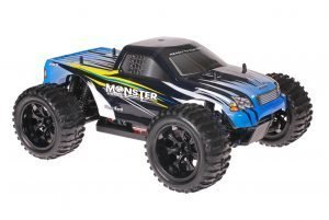 Himoto 1zu10 Brushed EMXT-1 RC Monster Truck Blue Sting