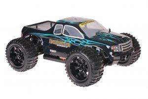Himoto 1zu10 Brushed EMXT-1 RC Monster Truck Dracul Blue