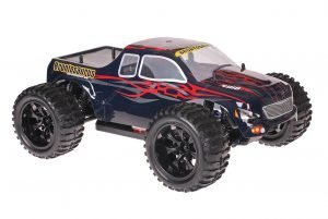 Himoto 1zu10 Brushed EMXT-1 RC Monster Truck Dracul Red