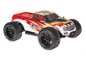 Himoto 1zu10 Brushed EMXT-1 RC Monster Truck Explosion Red