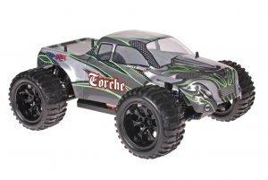 Himoto 1zu10 Brushed EMXT-1 RC Monster Truck Green Carbon
