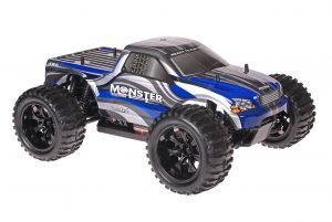 Himoto 1zu10 Brushed EMXT-1 RC Monster Truck Grey Blue