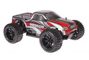 Himoto 1zu10 Brushed EMXT-1 RC Monster Truck Grey Red