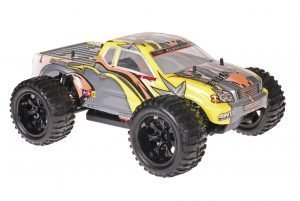 Himoto 1zu10 Brushed EMXT-1 RC Monster Truck Grey Star