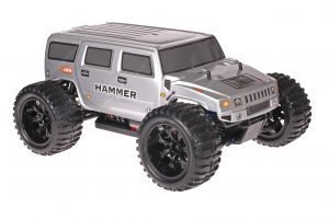Himoto 1zu10 Brushed EMXT-1 RC Monster Truck Hummer Grey